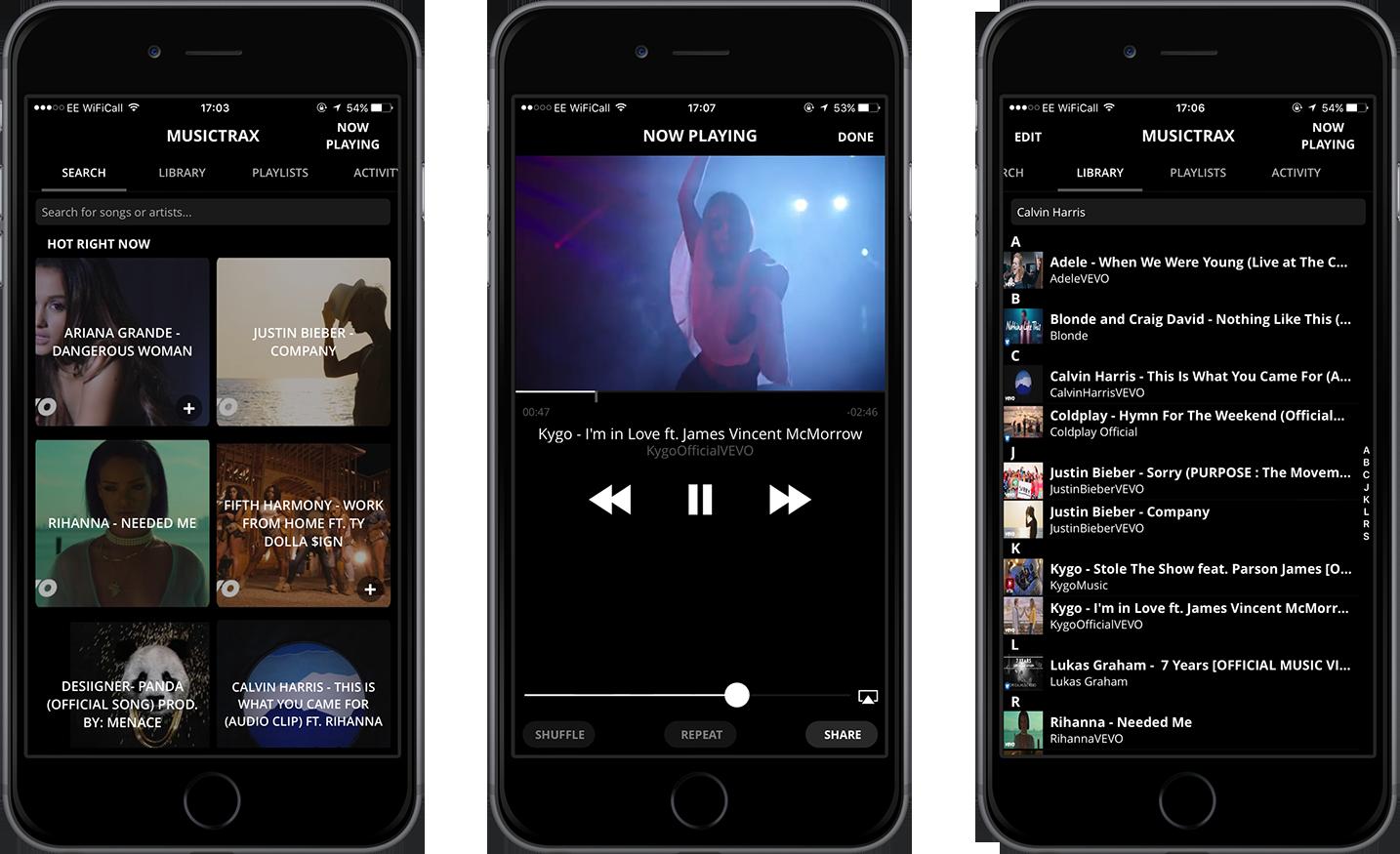 Musictrax Screenshots